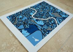 Rome Art Map - Limited Edition Contemporary Giclée Print