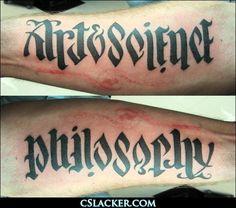 Art & Science - Philosophy Tattoo