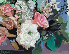 """Teal Leaves"" Oil Painting by Kate Mullin. www.katemullinart.com"