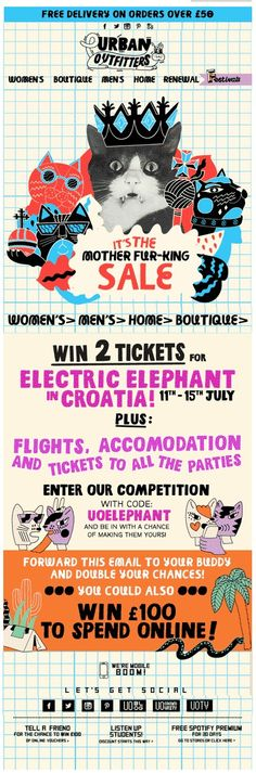 Another brilliant cat inspired email from Urban Outfitters minus the cat shit. 19/06/2013 Click to view the Gif! http://ebm.cheetahmail.com/c/tag/hBRwW5hA-QMoQB8zXWLNstJsjr1/doc.html?=sophie.evans@boden.co.uk