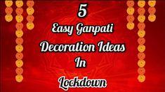Decoration For Ganpati, Easy, Artwork, Crafts, Work Of Art, Crafting, Diy Crafts, Craft, Arts And Crafts
