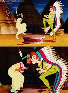 Peter Pan and Princess Tiger Lily dance