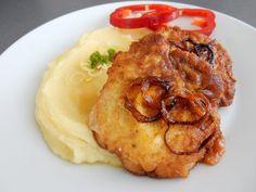 Výborný recept na obrácené řízky. Obrácené řízky jsou skvělí oběd. Obrácené řízky jsou oproti klasickým řízkům krásně šťavnaté. Obrácené řízky vyzkoušejte.. Tandoori Chicken, Food Videos, Mashed Potatoes, Pork, Food And Drink, Cooking Recipes, Menu, Ethnic Recipes, Diy