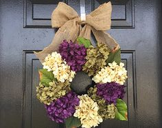 Elegant door wreaths. spring wreath wreath by YourHandmadeWreath