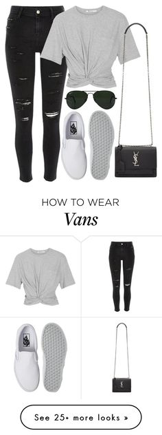 """""""Untitled #844"""" by r0sesandtea on Polyvore featuring River Island, T By Alexander Wang, Vans, Yves Saint Laurent and Ray-Ban"""