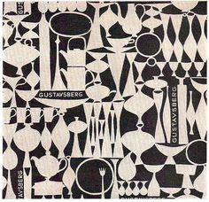 Gustavsberg paper  From Graphis Annual 55/56, sample of in-store paper for gifts and purchases. Design by Stig Lindberg
