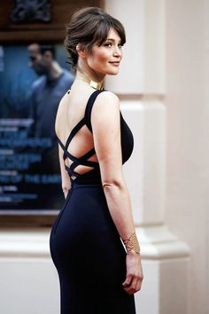 Gemma Arterton Hot Sexy Boobs Cleavage Sexy Booty Ass - Olivier Awards 2015