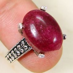 Ruby & 925 Silver Handmade Mind Blowing Ring Size 7.5 K96-29523 | eBay