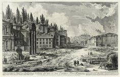 Giovanni Battista Piranesi (1720-1778) A corner of the Forum Romanum, with the Temple of Castor and Pollux (40 x 61,5 cm)