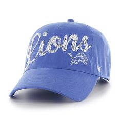premium selection cd160 af95d Detroit Lions Blue Raz Sparkle 47 Brand Womens Adjustable Hat