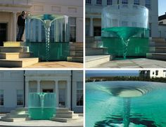 William Pye has created a vast variety of fountains and water sculptures that fall into every conceivable category but is perhaps best known for his vortexes that appear to defy physical laws and swirl within transparent casings.