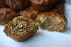 Morning glory muffins: ¼ cup mashed banana   ¼ cup honey(skip and double banana) 3 eggs 1 tsp vanilla   1 cup grated zucchini     1 cup grated carrot   1/3 c desiccated coconut   1 c almond flour   3 Tbsp coconut flour   1 tsp baking soda   1 ½ tsp cinnamon   ½ tsp salt   3-4 Tbsp sultanas or other dried fruit   4-6 Tbsp walnuts or other nuts/seeds