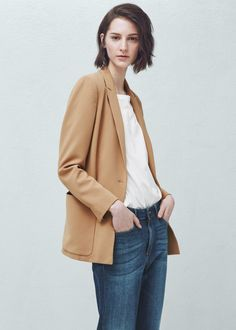 Patch-pocket blazer - Jackets for Women | MANGO USA