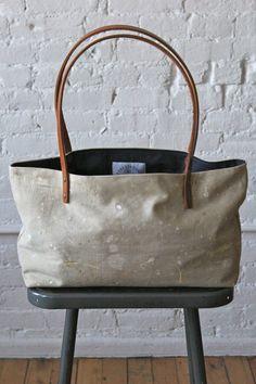 drop cloth tote bag