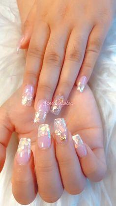 Acrylic Toe Nails, Colored Acrylic Nails, Square Acrylic Nails, Simple Acrylic Nails, Gel Nails, Elegant Nails, Stylish Nails, Nail Polish Designs, Nail Designs