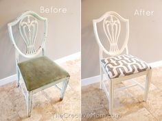 How to Paint a Chair {using Annie Sloan Chalk Paint}   The Creative MomThe Creative Mom
