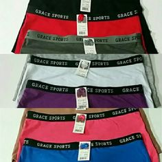 Womens Boxer Shorts Colorful & Comfortable Assorted Colors XXL fits sizes 13, 14, 15 Grace Sports Intimates & Sleepwear Panties