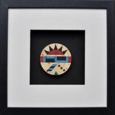 Zulu earplug  Unique pieces – Wood, asbestos vinyl, metal pins