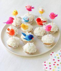 Pom Pom Bird Cupcake Toppers