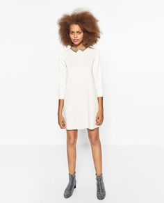 DRESS WITH SEQUINNED COLLAR-TRENDING NOW-WOMAN | ZARA United Kingdom