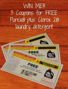 Introducing NEW Purex® plus Clorox 2® detergent with a giveaway! - WEMAKE7