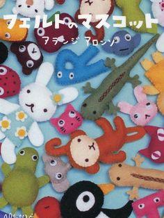 He encontrado este interesante anuncio de Etsy en https://www.etsy.com/es/listing/54669936/felt-mascots-by-aranzi-aronzo-japaense