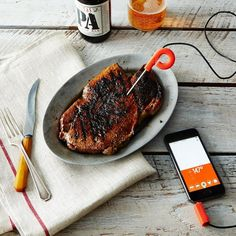 Range Smart Cooking Thermometer for iPhone and iPad, Remodelista Ipad, Fun Cooking, Cooking Tips, Cooking Ham, Food Tips, Disney Kitchen Decor, Thermometer, Cooking Gadgets, Recipes