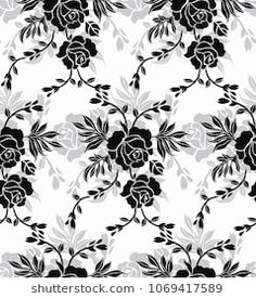 Seamless luxury pattern with flower