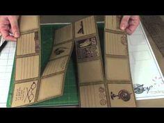 Club Scrap Lite Maze Book--video tutorial *idea for mini album for puppy pics* Mini Albums Scrap, Mini Scrapbook Albums, Scrapbook Cards, Scrapbooking, Maze Book, Accordion Book, Origami, Buch Design, Mini Album Tutorial