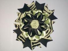 "Baby-Toddler-Girl 4.5"" Swallowtail Nest hair bows Clip Rose Alligator clip 5-14 #Handmade"