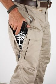 Pants with built-in concealed carry holster