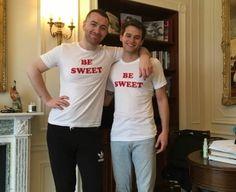 Sam Smith with boyfriend Brandon Flynn in London- April 2018