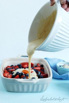 Liebesbotschaft: Sommerbeeren-Frühstück oder wie ich mich gerade noch so vor Sport drücken konnte...