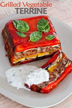 Our Little Haus On The Prairie: Spring anticipated Grilled Vegetable Terrine Vegetable Recipes, Vegetarian Recipes, Cooking Recipes, Healthy Recipes, Healthy Foods, Healthy Food Options, Grilled Vegetables, Food Dishes, Food Food