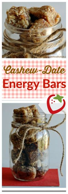 Cashew-Date Energy Bars | Healthy Ideas for Kids