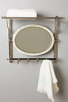 A beautiful rack for a bathroom! Candescent Train Rack