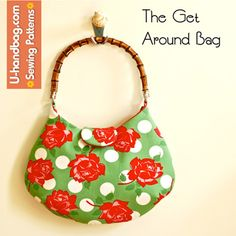 The Get Around Bag. Cute! Permission given to sell finished product made from pattern. Thanks, Lisa!