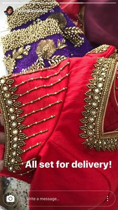 Hand Work Blouse Design, Simple Blouse Designs, Fancy Blouse Designs, Bridal Blouse Designs, Blouse Neck Designs, Blouse Patterns, Sleeve Designs, Maggam Work Designs, Hand Embroidery Designs