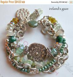 ON SALE garnet bracelet emerald bracelet fluorite by soulfuledges