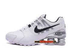 cheap for discount 449b2 c170c Nike Shox Avenue 803 Chaussures Nike Sportswear 2017 Boutique Pas Cher Pour  Homme Blanc Gris