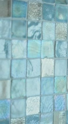 Turquoise Sea Glass Tiles  Pretty at a beach cottage