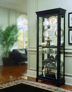 Oxford Black Curio Cabinet by Pulaski Furniture - Clocks - Triad Furniture Distributors