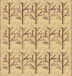 "Laundry Basket Quilt of the Day - ""Birch"". #quiltoftheday #edytasitar #laundrybasketquilts #birch #fall #nature"