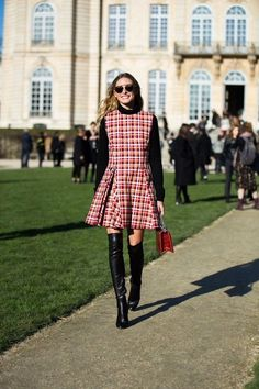 The Olivia Palermo Lookbook : Olivia Palermo at Dior Spring/Summer 2016 Show in Paris