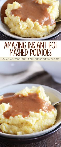 Quick, Easy and Amazing Mashed Potatoes! These Instant Pot mashed potatoes are the best potatoes on the planet! The most amazing part: the mashed potatoes can stay warm for HOURS before serving. Instant Pot Mashed Potatoes Recipe, Mashed Potato Recipes, Instapot Mashed Potatoes, Potatoes Anna, Crockpot Mashed Potatoes, Slow Cooker Recipes, Crockpot Recipes, Pressure Cooker Recipes Vegetarian, Gastronomia