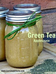 Our Simple Farm: How to Make Green Tea Applesauce and Apple Cider Butter