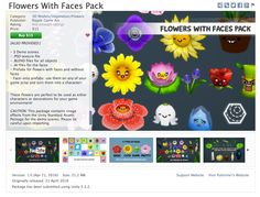 Flowers With Faces Pack on Unity Asset Store
