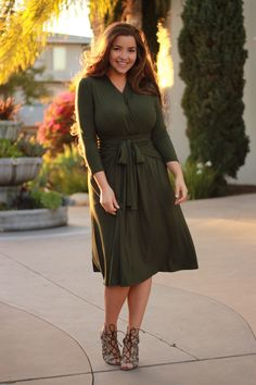 New items are trickling in! Our Olive Lindsey dress is available now! www.theskirtsociety.com