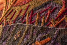 "Tapestry Detail, ""Abundante Fertility on Earth"", Handwoven Tapestry by Peruvian Artist Maxmio Laura, 48 x 76 in /// More information at info@maximolaura.com"
