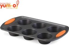 #holidaycooking  6-c. Oven Lovin' Nonstick Muffin Pan by Rachael Ray at Cooking.com